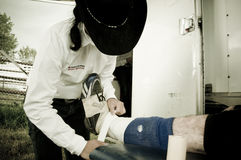 Rodeo and cowboys sports medicine Royalty Free Stock Images