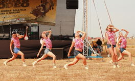 Rodeo Dolls. Female dance group Royalty Free Stock Photos