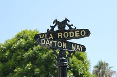 Rodeo Drive. The famous fashion road of Hollywood, L.A., California royalty free stock image