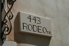 Rodeo Drive Royalty Free Stock Photography