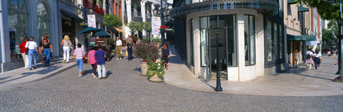 Rodeo Drive in  Beverly Hills, Royalty Free Stock Photography