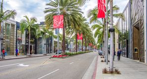 Rodeo Drive,Beverly Hills Royalty Free Stock Images
