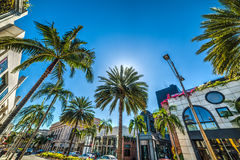 Rodeo drive in Beverly Hills. California Stock Images