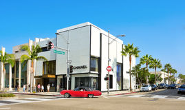 Rodeo Drive, Beverly Hills, Etats-Unis images libres de droits