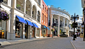 Rodeo Drive, Beverly Hills, Etats-Unis Photos stock