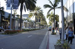 Rodeo Drive. The Rodeo Drive  in Beverly Hills, LA, CA., one of the Richest place in the world Royalty Free Stock Photography