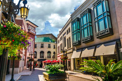 Rodeo Drive in Beverly Hills, Los Angeles, USA. BEVERLY HILLS, California - Sept 8: Rodeo Drive in Beverly Hills on September 8, 2015. Rodeo Drive is an affluent stock photography