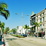Rodeo Drive, Beverly Hills, Stati Uniti immagine stock