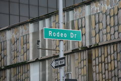 Rodeo Drive in Beverly Hills Royalty Free Stock Images
