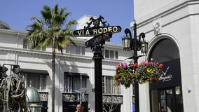 Rodeo Drive in Beverly Hills stock footage