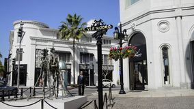 Rodeo Drive in Beverly Hills stock video footage