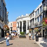 Rodeo Drive, Beverly Hills, United States. BEVERLY HILLS, US -  OCTOBER 16: Two Rodeo in Rodeo Drive on October 16, 2011 in Beverly Hills, US. There are more Stock Image