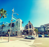 Rodeo Drive on a clear day. Rodeo Drive on a sunny day Stock Photography