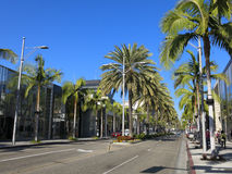 Rodeo Drive in Los Angeles. The Rodeo Drive in Los Angeles Stock Photos
