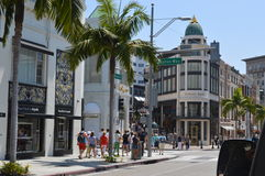 Rodeo Drive in Los Angels. The image of Los Angels, USA Royalty Free Stock Images