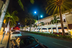 Rodeo drive by night Stock Photos