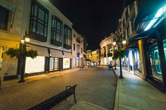 Rodeo Drive by night. Beverly Hills. California, USA Stock Photos