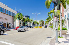 Rodeo Drive shopping district in Beverly Hills, California, USA Stock Photos
