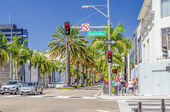 Rodeo Drive shopping district in Beverly Hills, California, USA Stock Photography