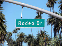 Rodeo Drive Sign. Rodeo Drive street sign in Beverly Hills CA Stock Images