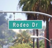 Rodeo Drive Sign. In affluent Beverly Hills California Royalty Free Stock Photo