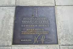 Rodeo Drive sign Royalty Free Stock Images