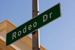 Rodeo Drive sign in Beverly Hills California. The Famous Rodeo Drive sign in affluent Beverly Hills California Royalty Free Stock Photo
