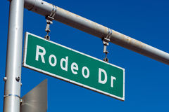 Rodeo Drive sign in Beverly Hills California. The Famous Rodeo Drive sign in affluent Beverly Hills California stock images