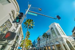 Rodeo Drive sign under a clear sky Royalty Free Stock Photo