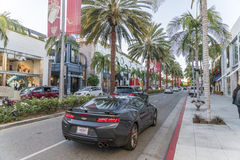 Rodeo drive street Royalty Free Stock Photos