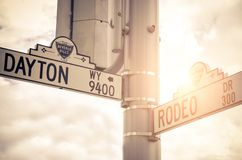 Rodeo Drive street sign stock image