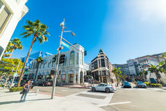 Rodeo Drive on a sunny day Royalty Free Stock Photo