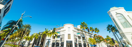 Rodeo drive on a sunny day Royalty Free Stock Photography