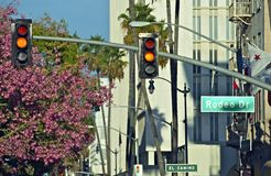 Rodeo Drive Traffic Lights Stock Photos
