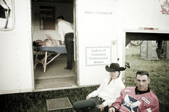 Rodeo en cowboys royalty-vrije stock afbeelding