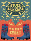 Rodeo Extreme - Cowboy event poster Stock Images
