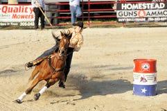 Rodeo fasten Kurve Stockfoto