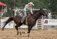 Rodeo Girl Stock Image
