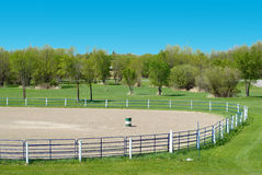 Rodeo Grounds. High view of some empty rodeo grounds on a sunny day Royalty Free Stock Photo