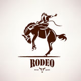 Rodeo horse symbol. Stylized vector silhouette Royalty Free Stock Photos