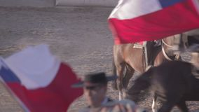 Rodeo i chile stock video
