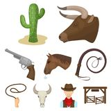 Rodeo icon in set collection on cartoon Stock Photography