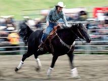 Rodeo: Ladies Barrel Racing Royalty Free Stock Photos