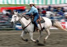 Rodeo: Ladies Barrel Racing Royalty Free Stock Photos