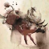 rodeo Oeste salvaje - occidental ilustración del vector