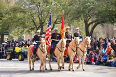 Rodeo Parade. Every February since 1938 the nation's fourth largest city is transformed from a bustling metropolis to a down-home celebration of Western Stock Image