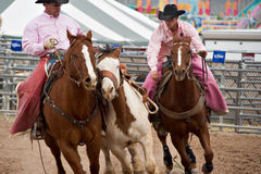 Rodeo pick-up men Royalty Free Stock Images