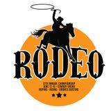 Rodeo plakatowy projekt z kopii przestrzenią royalty ilustracja