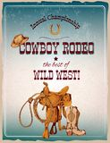 Rodeo poster colored Stock Images
