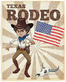 Rodeo poster Stock Image